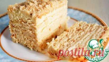 Торт без выпечки с творожным кремом - кулинарный рецепт