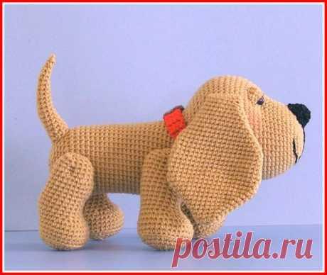 """Благородный пёс Генри, вязание крючком, описание в PDF Схема вязания """" Благородный пёс Генри """" крючком в PDF, скачайте бесплатно подробное описание."""