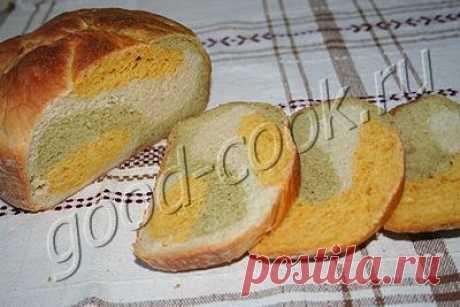 """Хорошая кухня - хлеб """"Радуга"""" с морковью и брокколи. Кулинарная книга рецептов. Салаты, выпечка."""