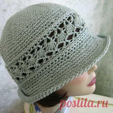 Шляпы-женская летняя вязаная шапка с рисунком-Diy ремесла-potitoo