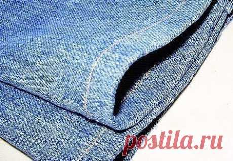 Как подшить джинсы: мастер-класс