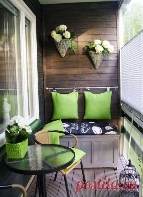 Beautiful and cozy balconies — Luxury and a cosiness