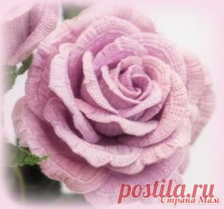 "Онлайн ""Вяжем розы вместе"". Роза №2 - Игрушки своими руками - Страна Мам"