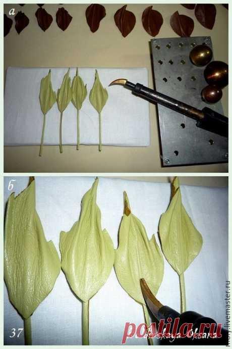 Создаем брошь-цветок из натуральной кожи. Часть 2 - Ярмарка Мастеров - ручная работа, handmade