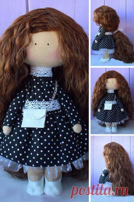 Teenager doll Handmade doll Rag doll Tilda by AnnKirillartPlace