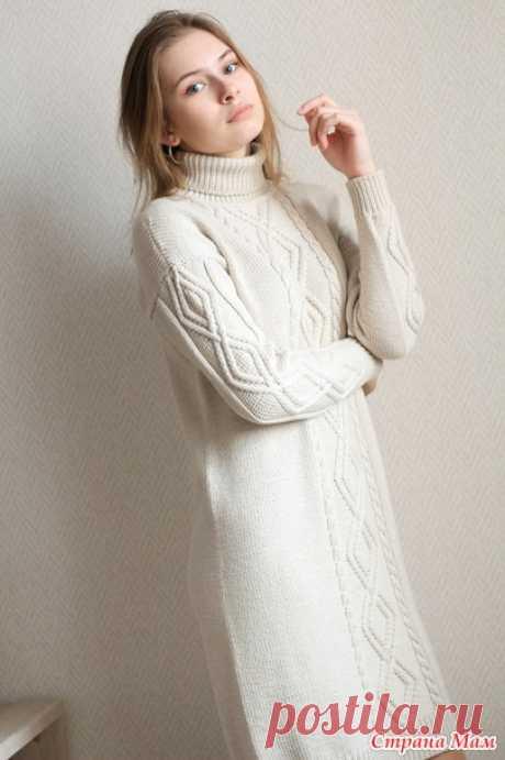 Платье и васильковый свитер - Вязание - Страна Мам