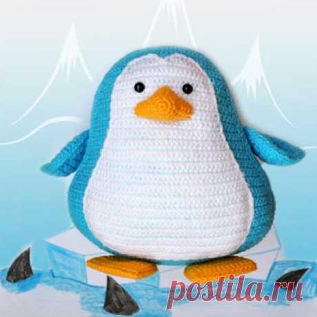 Пингвинёнок амигуруми. Схемы и описания для вязания игрушек крючком! Бесплатный мастер-класс от Ирины @grizzly_bear_toys по вязанию пингвинёнка крючком. Для изготовления вязаного пингвина автор использовал пряжу YarnArt…