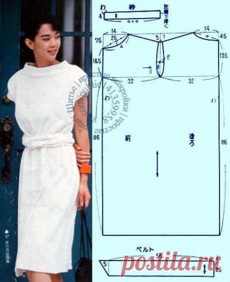 Летнее платье без вытачек Модная одежда и дизайн интерьера своими руками