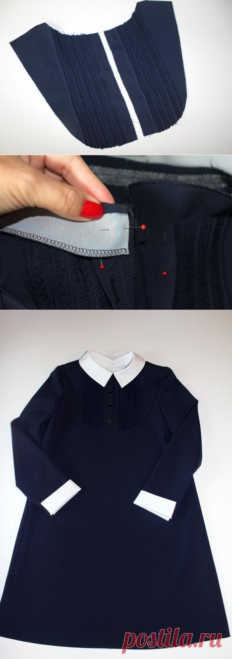Школьная форма своими руками: платье для девочки — Мастер-классы на BurdaStyle.ru