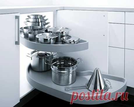 Выдвижные элементы для маленькой кухни — Роскошь и уют