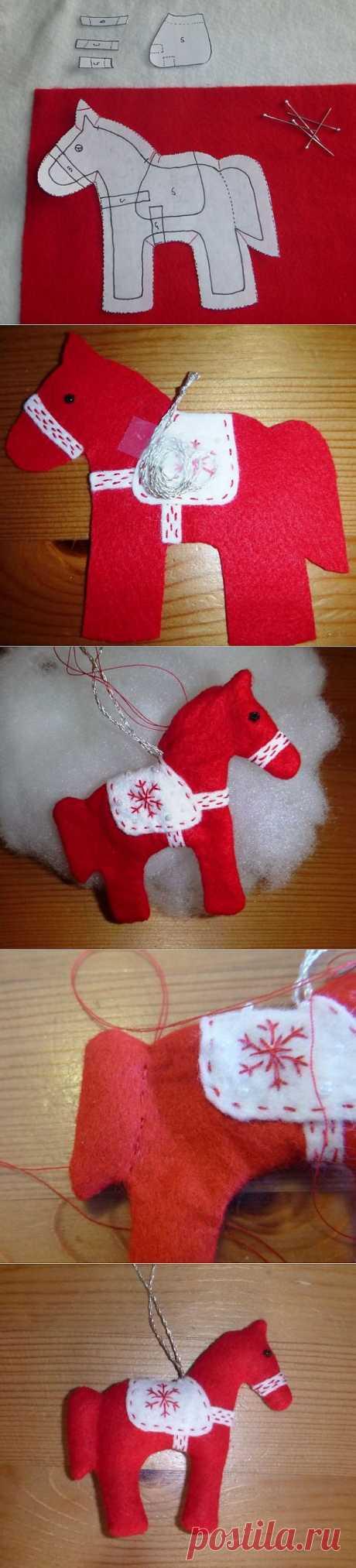 (+1) - Готовимся к новому году: елочная игрушка лошадка своими руками | Полезные советы