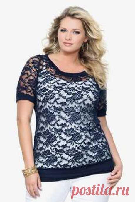 Блузки для полных женщин. Выкройки блузок для полных женщин :: SYL.ru
