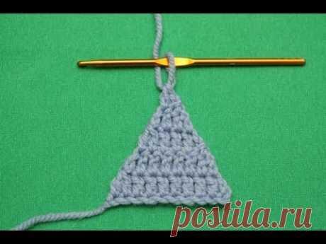 Обучающий видео мастер-класс по вязанию: Треугольник крючком. Специально для сайта vse-sama.ru
