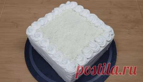 Торт Молочная девочка по-новому. Домашний рецепт | Вкусно Просто Быстро | Яндекс Дзен