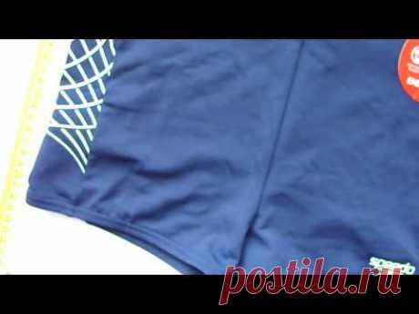 Плавки-боксеры SPEEDO (Синие с салатными полосками) 600грн
