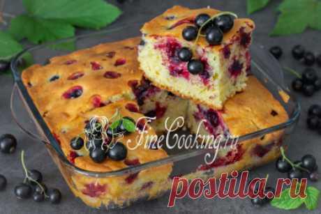 Пирог с черной смородиной - рецепт