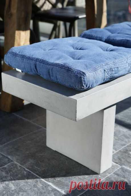 Джинсовые переделки: Подушки и сиденья для стульев — Делаем руками