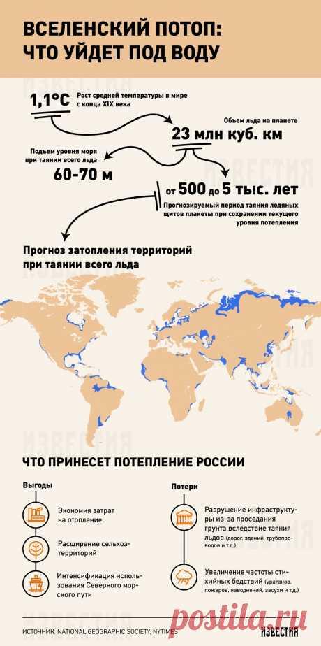 Как изменится карта мира из-за глобального потепления - Известия