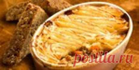 Картофельная запеканка с мясом. Пастуший пирог