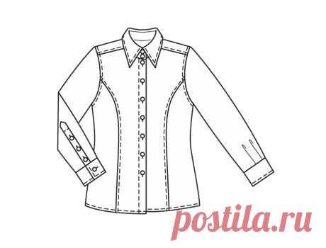 Блузка приталенного силуэта ##блуза##шитье##пдф##бесплатно##электроннаявыкройка##школарукоделия##одежда##моделирование#