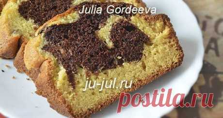 Двухцветный кекс рецепт   Готовим вкусно