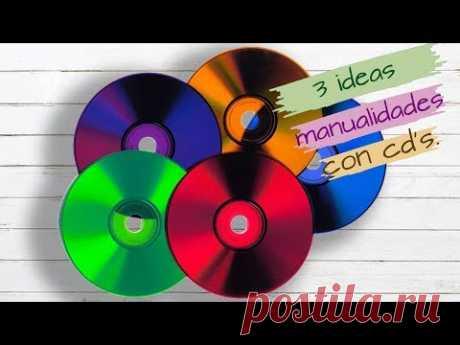 3 IDEAS, MANUALIDADES CON CD'S