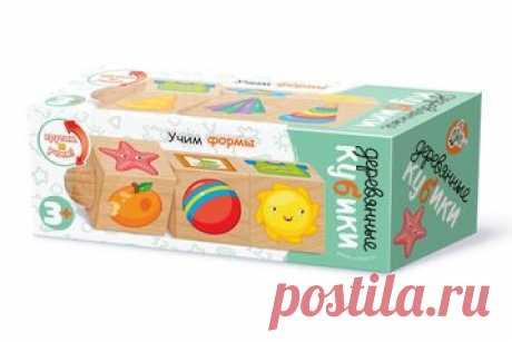 Кубики деревянные на оси «Учим формы» (3 кубика)    Деревянные кубики на оси «Учим формы» предназначены для детей от 3-х лет и изготавливаются и...