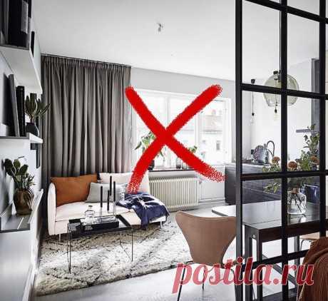 7 частых ошибок соединения кухни и гостиной.