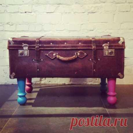 Хорошо забытое старое, или Вторая жизнь чемодана | Журнал Ярмарки Мастеров