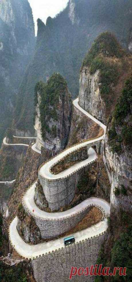 Tianmen Mountain, China by Amber Mackin   Pinterest • World catalog of ideas