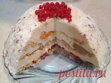 Торт Снежный: оригинальность и потрясающая нежность в каждом кусочке