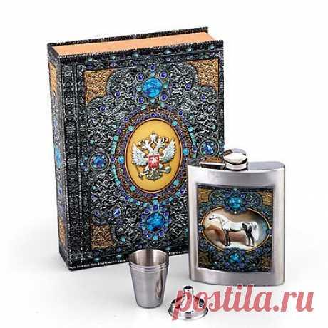 Набор: фляжка, 3 стопки, воронка - Подарки для мужчин - Подарки: MeggyMall.ru Интернет-магазин - 899p.