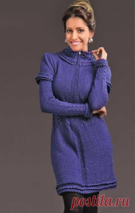 Вязаное платье на молнии - Портал рукоделия и моды