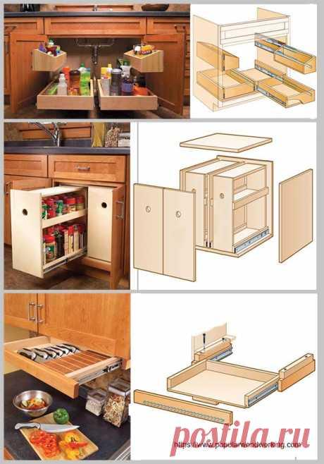 Невероятно простое решение проблемы организации хранения на кухне — Идеи домашнего мастера