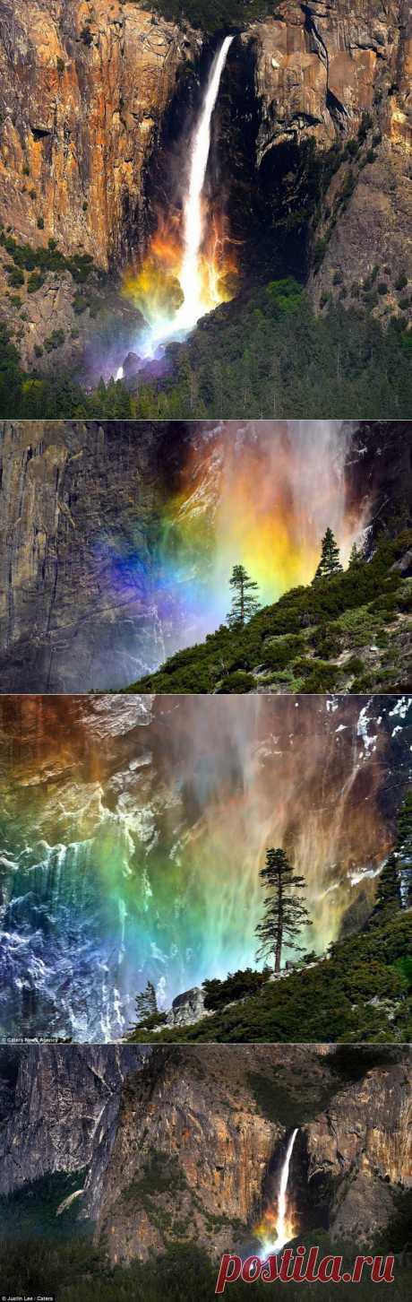Радуга под водопадом / Туристический спутник
