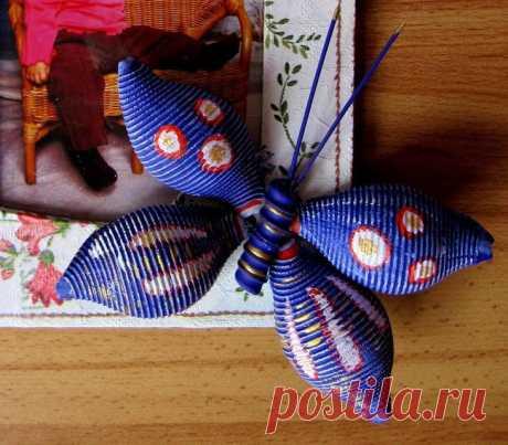 Бабочка из макарон