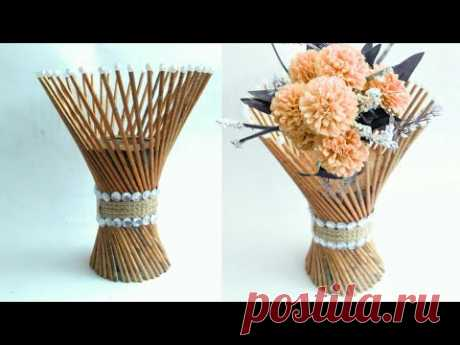Newspaper flower vase | flower vase making | newspaper craft | HMA##170