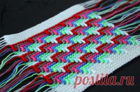 Узор «Слезы апачи»: вязание крючком, имитирующее вышивку барджелло…