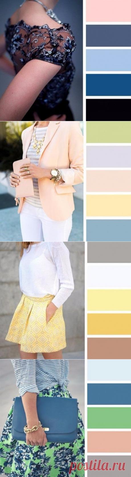 ¡La combinación de los colores en la ropa! — es a la moda \/ Nemodno