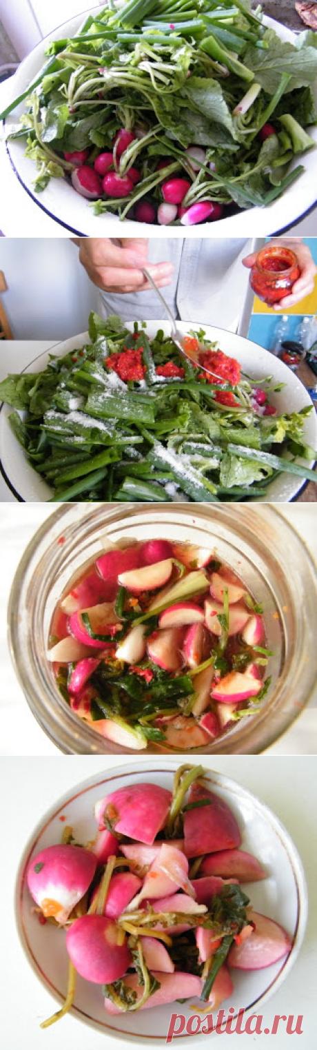 Соленая редиска - корейские вкусности.