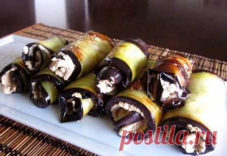 Рулетики из баклажанов с разными начинками: рецепты приготовления с сыром, творогом и чесноком