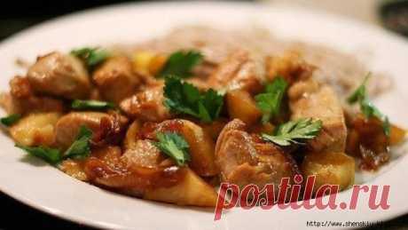 Сочная куриная грудка с яблоками - простое и вкусное блюдо на каждый день!