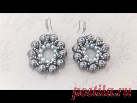 Серьги из жемчуга. Pearls earrings/ diy