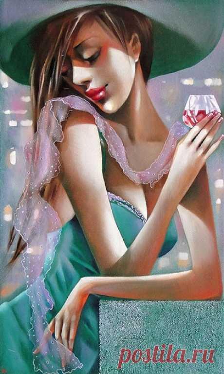 Красивая женщина - это профессия... Художник Ira Tsantekidou