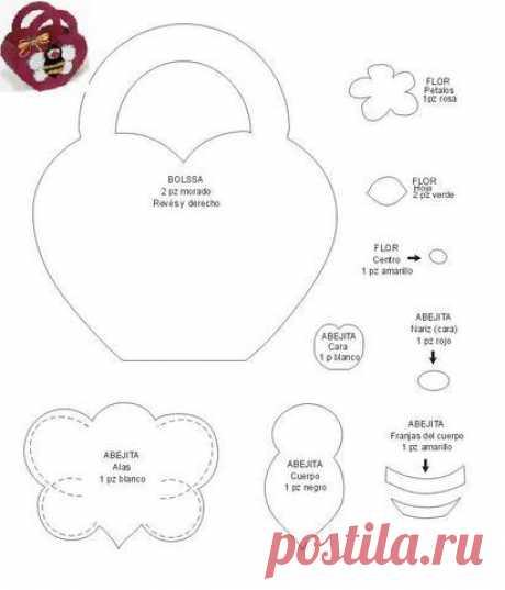 Cajita con forma de corazón y abejita en el centro. Moldes. | Ideas y material gratis para fiestas y celebraciones Oh My Fiesta!