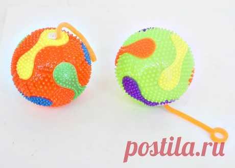 Купить Мяч прыгун, свет, резинка, дисплей, арт.635796