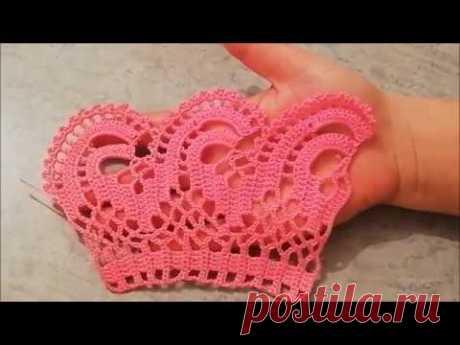Havlu kenarı uç danteli yapılışı&crochet