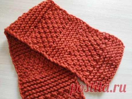 Теплый шарф спицами на осень-зиму » «Хомяк55» - всё о вязании спицами и крючком