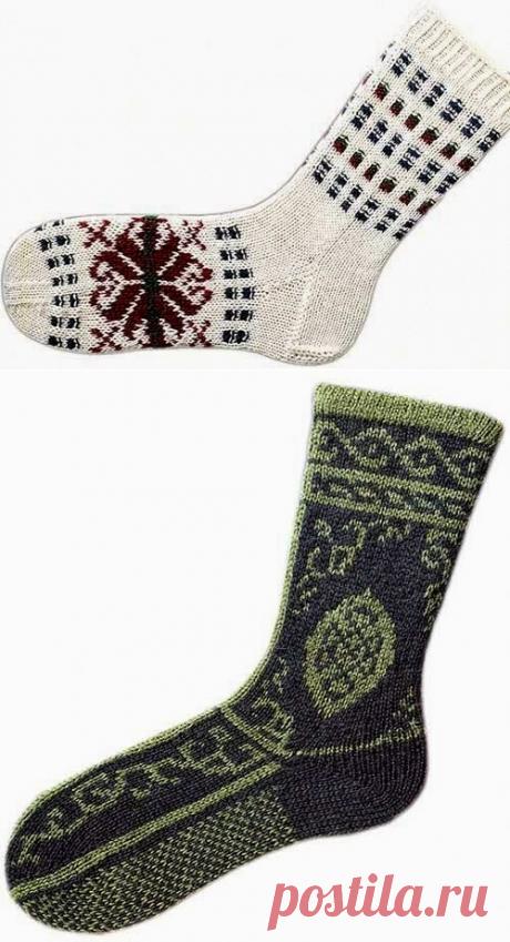 """Милые сердцу штучки: Вязание на спицах: """"Три дизайна носков в скандинавском стиле"""""""