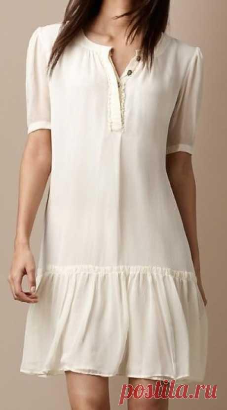 Выкройка летнего платья с заниженной талией (Шитье и крой)